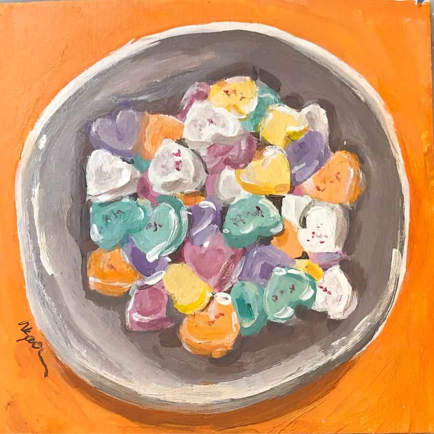 Bowl of Conversation Hearts