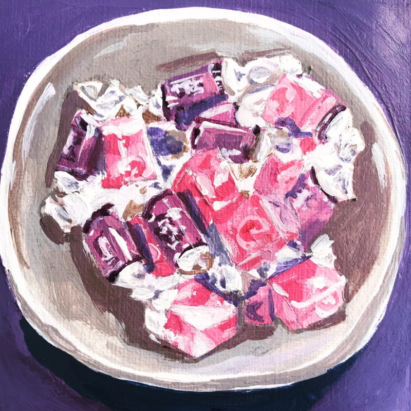 Bowl of Pink Candy