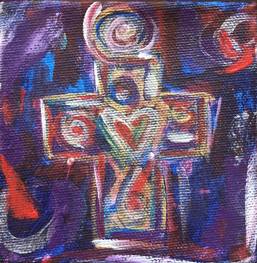 Purple Cross Necklace