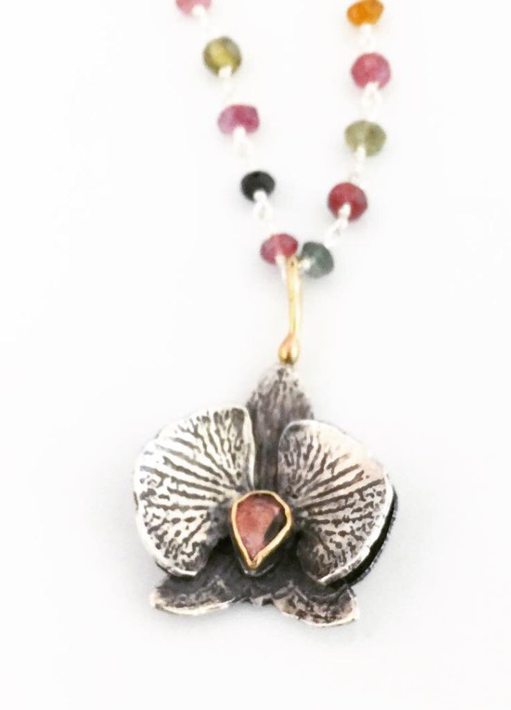 Tourmaline Orchid Necklace