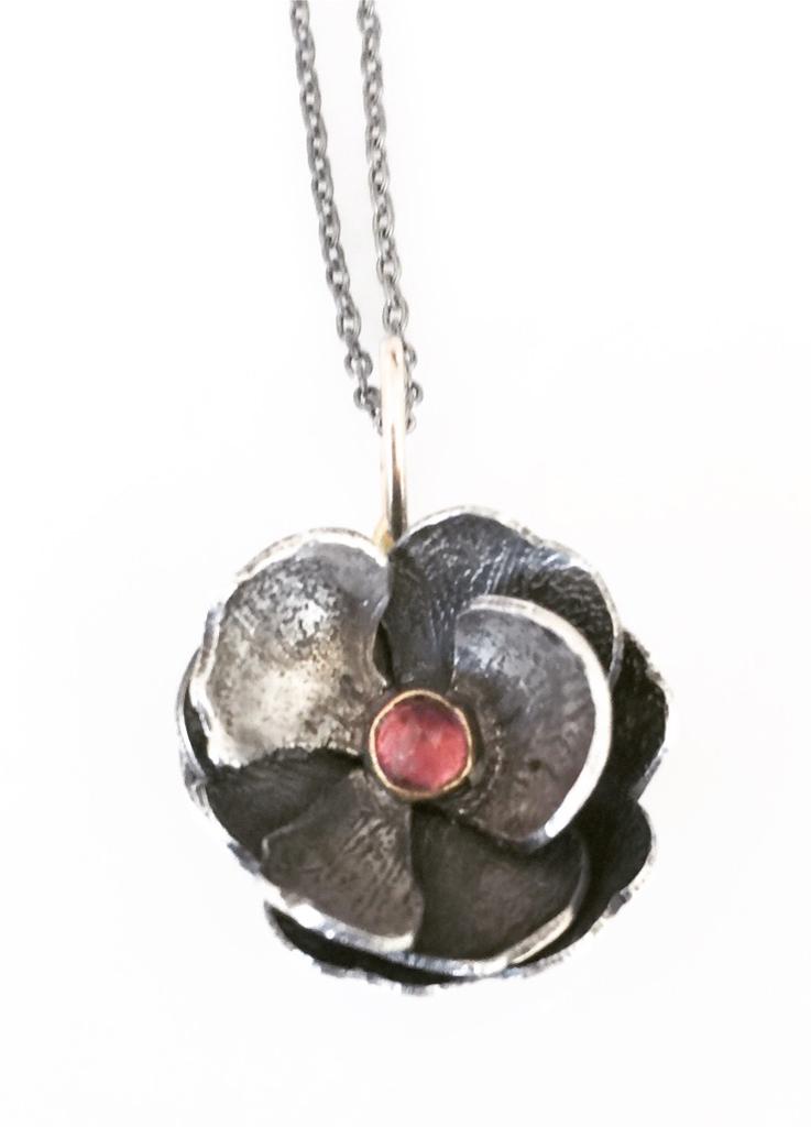 Tourmaline Tulip Necklace